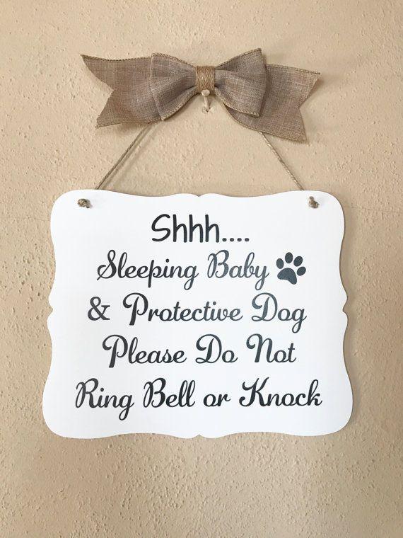 Shh Baby Sleeping Sign, Baby, Door Sign, Baby Shower Gift, 8x10  | eBay