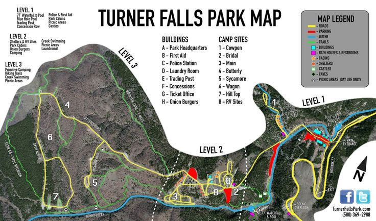 Maps/Directions — Turner Falls Park Oklahoma waterfall