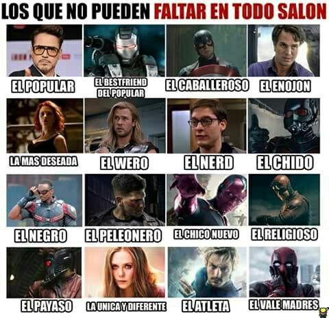 Ríe con los personajes de Marvel cómics. #detodo # De Todo # amreading # books # wattpad