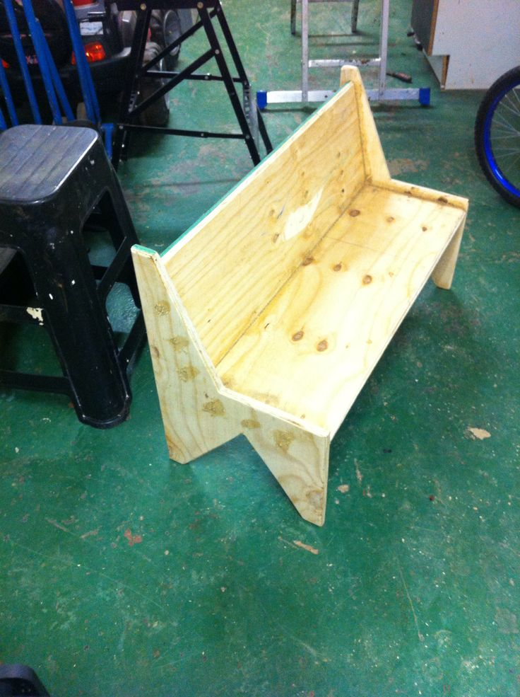 Kiddies bench made from offcut wood