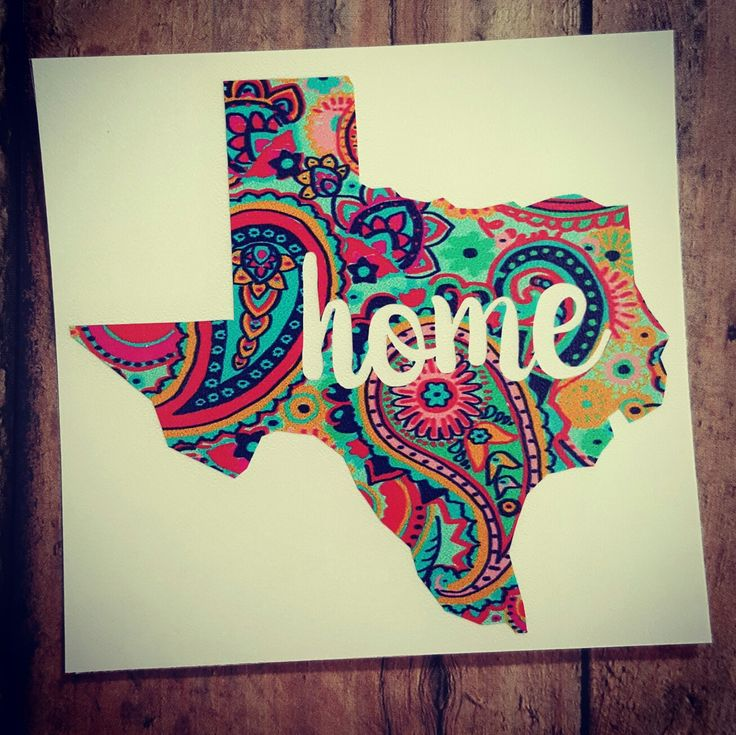 Texas Home Decal, Paisley Decal, State Decal, Serape Blanket, Indian Blanket