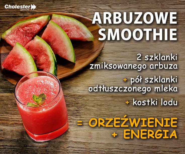 Arbuz orzeźwia i nawadnia organizm. Takie smoothie zasmakuje każdemu. :) #smoothie #dieta #napoje #witaminy #arbuz