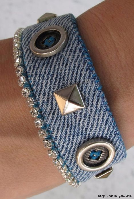 Stylish jeans bracelets with decor. Discussion on LiveInternet – Russian Service…
