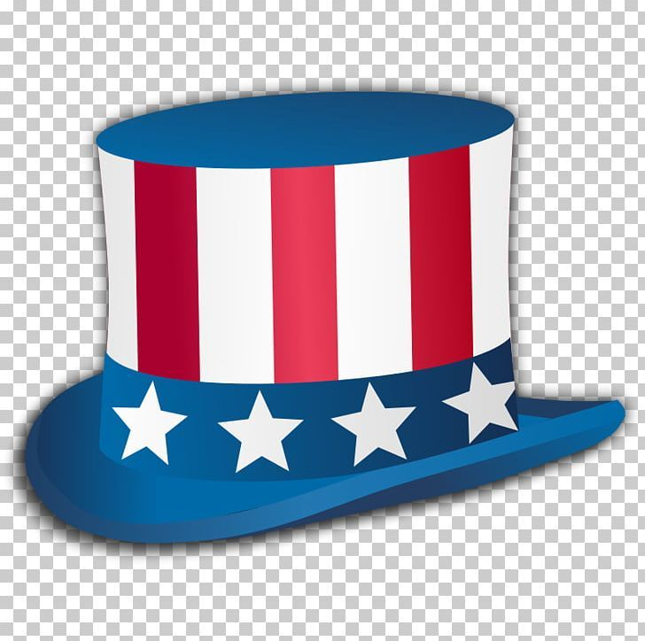 Uncle Sam Independence Day Top Hat Png Computer Icons Costume Hat Electric Blue Fedora Flag Of The United States Independence Day Top Hat Uncle Sam
