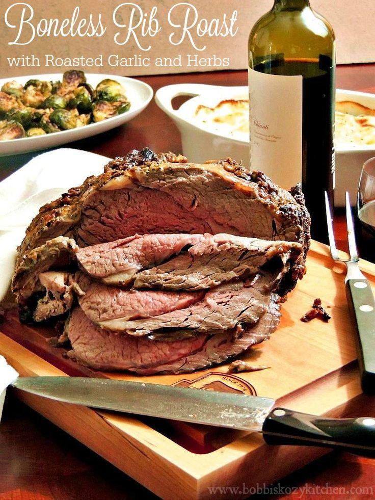 Boneless Rib Roast with Roasted Garlic and Herbs #SundaySupper #RoastPerfect from www.bobbiskozykitchen.com