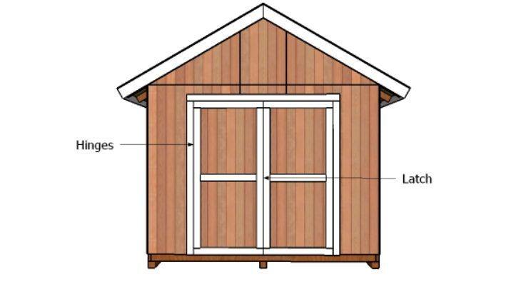 10 10 Double Shed Doors Plans 10x10 Shed Plans 10x12 Shed Plans Shed Doors