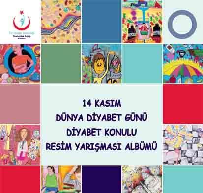 """""""14 Kasım Dünya Diyabet Günü"""" konulu resim yarışması albümü basılmıştır"""