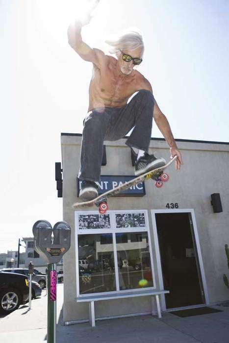 Não existe idade para andar de skate