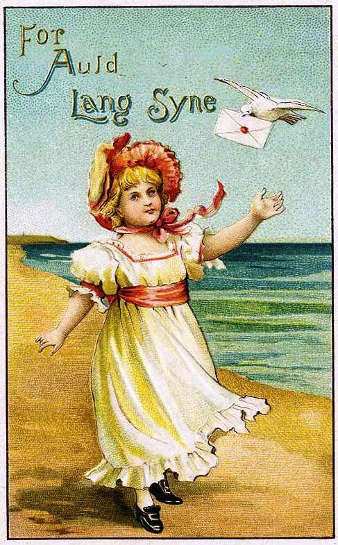 .: Vintage Postcards, Vintage Christmas, Christmas Gifts Tags, Free Vintage, Auld Lang Syne, Old Postcards, Christmas Toys, Vintage Happy, New Years