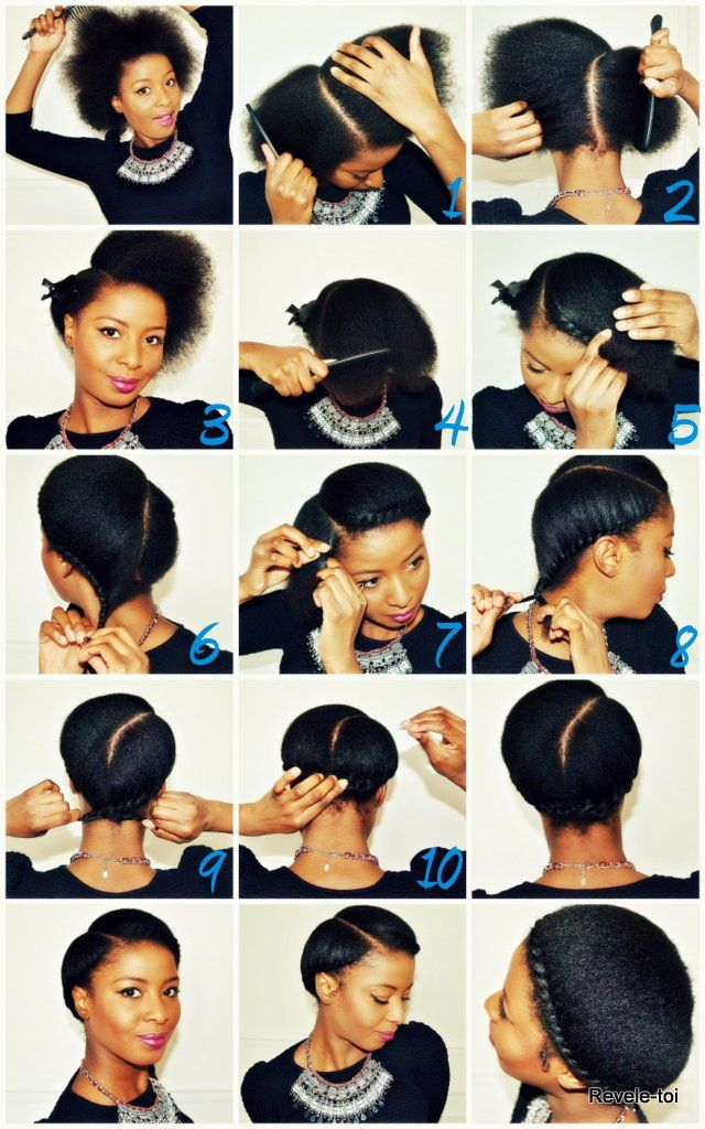 hair styling tutorial hairstyle tutorial revele toi afro 7145 | 1299fcecf4ba0c8e35c430d08893bbf9