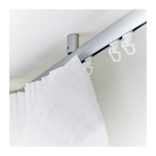 Kvartal Glider And Hook Ikea For Easy Hanging Of Curtains With Curtain Suspension System