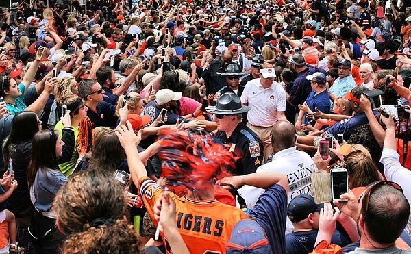 The Tiger Walk,Tiger walk,Auburn University,Auburn,Auburn ALabama,Auburn AL,AU Tiger walk,AU Fotball,Auburn Football,Auburn Tigers,Auburn traditions