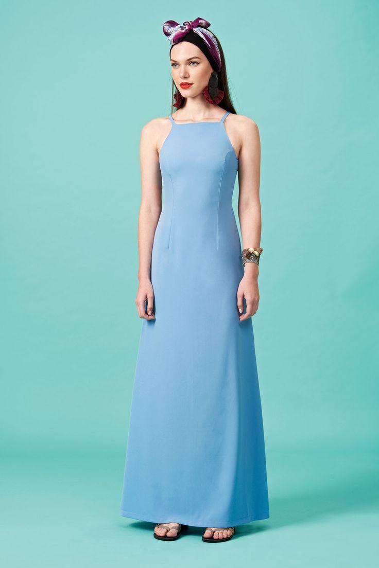 Forever Young : Φόρεμα maxi σε άλφα γραμμή (FY1010)