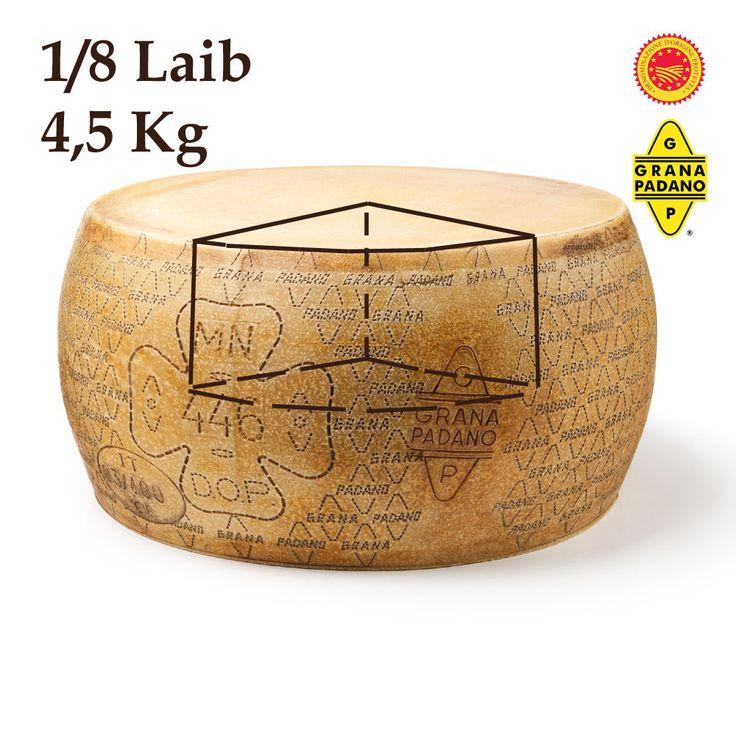 Grana Padano D.O.P - 4500g Stück 1/8 - Italienischer Käse Spezialität 12 Monate   eBay