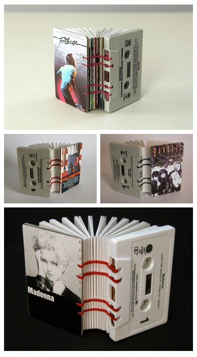 Cassette Tape Books by Erin Zamrzla