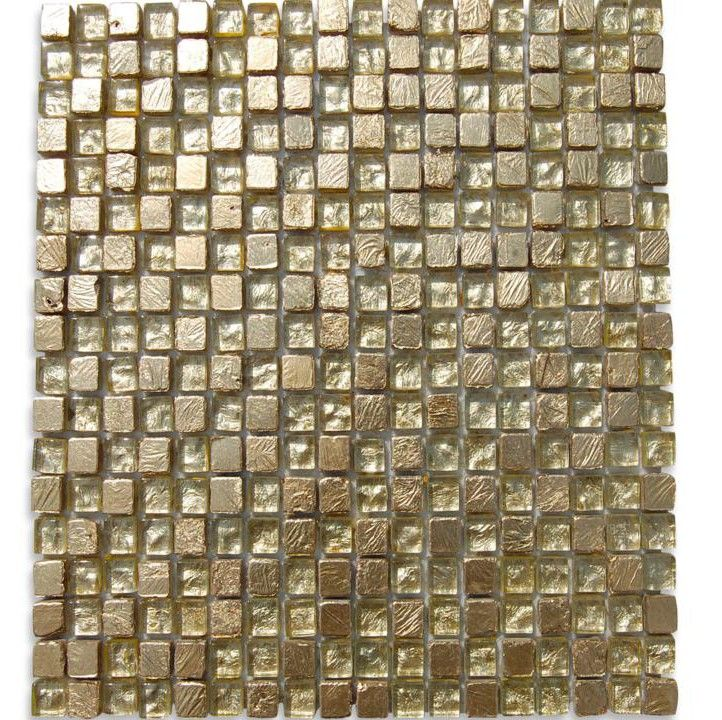 Alloy Golden Crest 1/2x1/2 Glass Tile