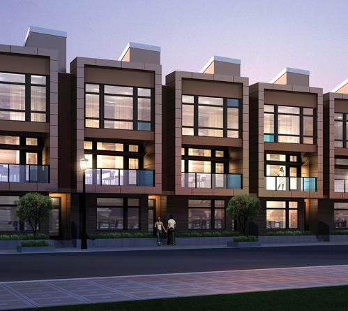 Contemporary townhouses with a punch chroma townhomes for for Modern townhouse architecture