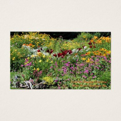 #Colorful Mid-Summer Gardens! Business Card - #country gifts style diy gift ideas