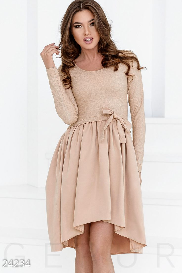 Пышное комбинированное платье