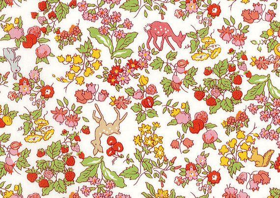 Liberty tana lawn fabric Nancy Animal printed in by sewsewnsew