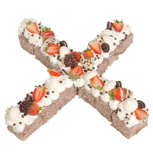 Letter X Chocolate Lamington Birthday Cake For Those People Who NameStart With If You Want Any Other Latter We Will Make And Order Online