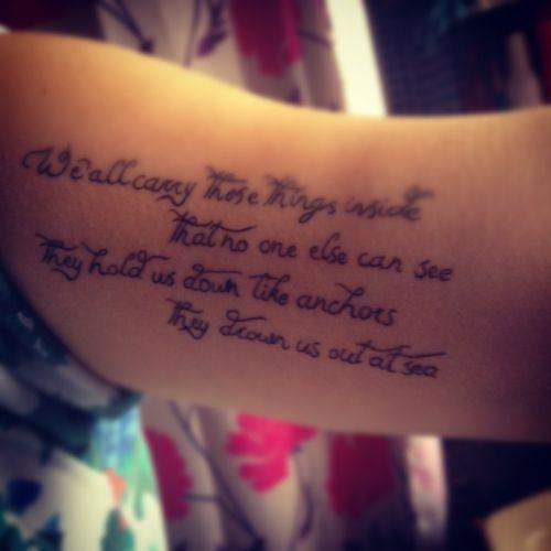 Lyric Tattoos, Tattoos