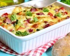 Tartiflette aux pommes de terre et aux saucisses (facile, rapide) - Une recette CuisineAZ
