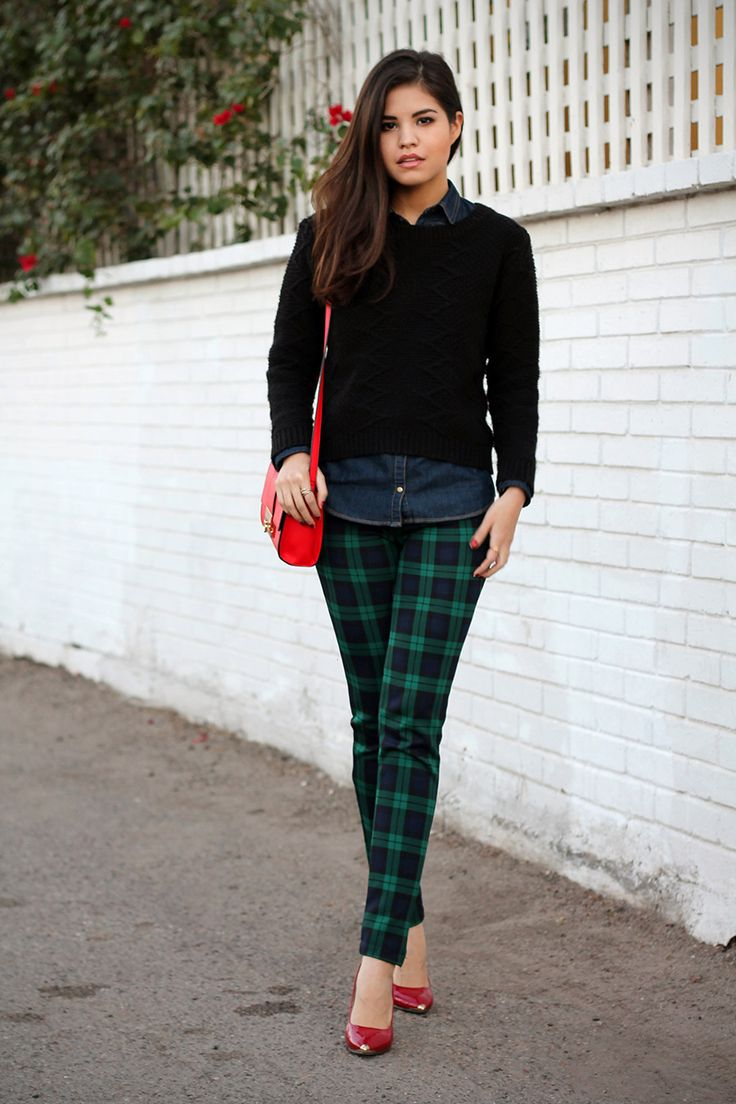 love these tartan trousers!