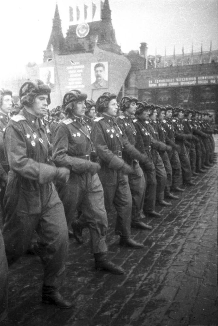 Victory Parade, a unit of tank officers