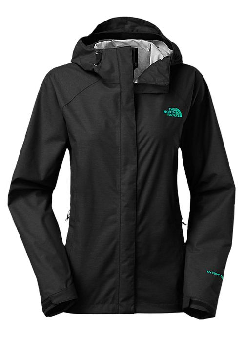 The North Face Women's Venture Jacket in TNF Black is a waterproof and breathable hooded jacket that features HyVent, a soft shell exterior, finished with a dry touch coating that eliminates the need