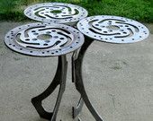 ReCycled Harley Motorcycle Part Art End Table