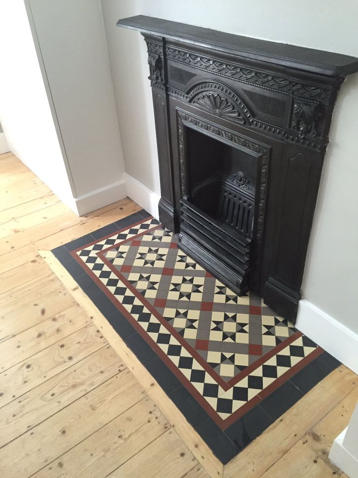 Victorian Floor Tiles Fire Places Real And Faux In 2019
