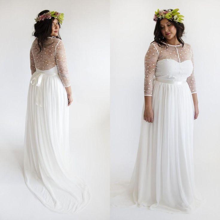 Best 25 plus size gowns ideas on pinterest plus size for Bohemian beach style wedding dresses