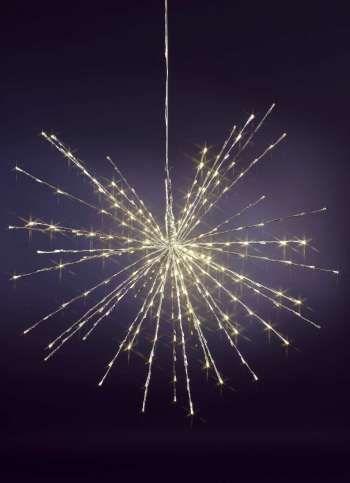 LED-Leuchtstern 100 cm Ø für außen silber/warmweiße LEDs