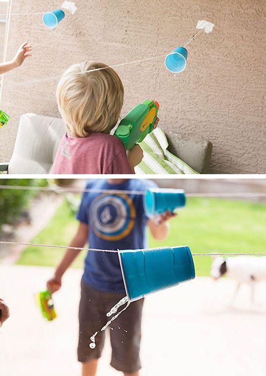 Cup-Rennen |  Klicken Sie Pic für 19 DIY Sommer-Crafts für Kinder zu machen…