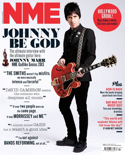 NME Magazine cover, Johnny Marr, February 16th 2013