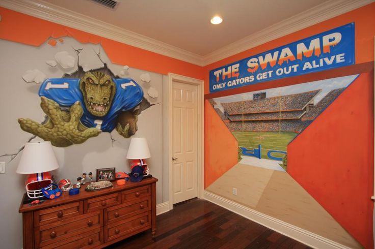 Jacksonville gators bedroom boys pinterest for Gator bedroom ideas
