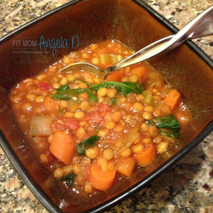 Healthy greek lentil soup recipe manual 21 day fix for Best lentil soup recipe in the world