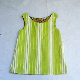 Incredibly easy tutorial for girl's lined dress.