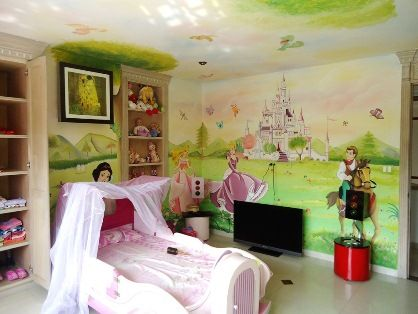 decoracion cuarto infantil de princesas Disney