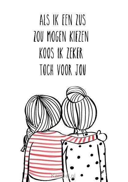 Wenskaart als ik een zus zou mogen kie | Luv | Kaarten | Kameel.nl