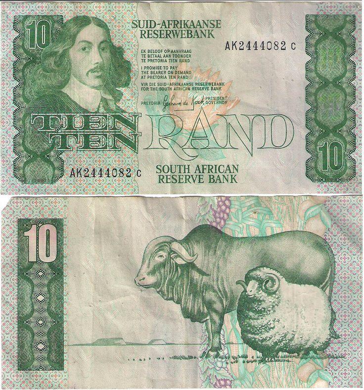 10 Rands sul africanos