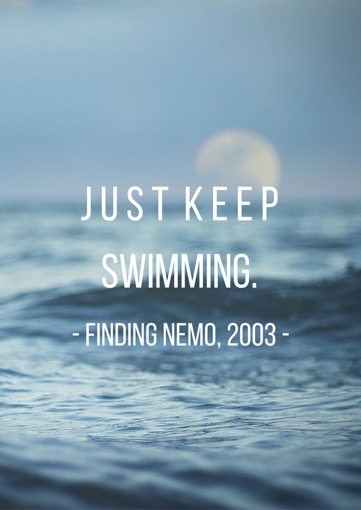 A quote from everyone's favorite movie, Finding Nemo (2003)! #findingnemo #moviequotes #quotesillustration