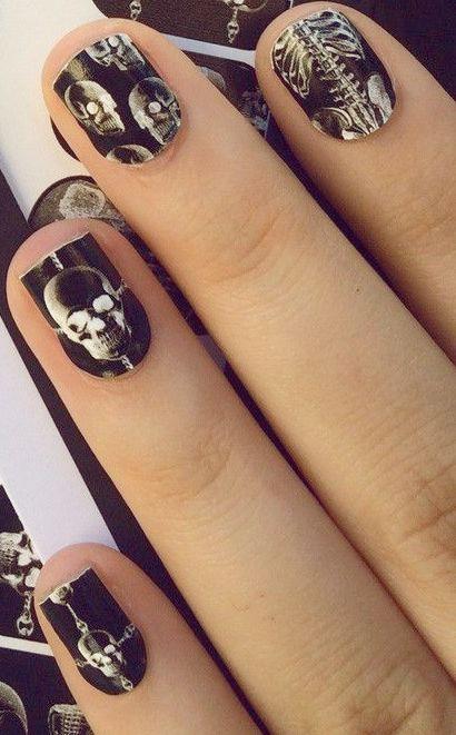 Skull Nails #Halloween