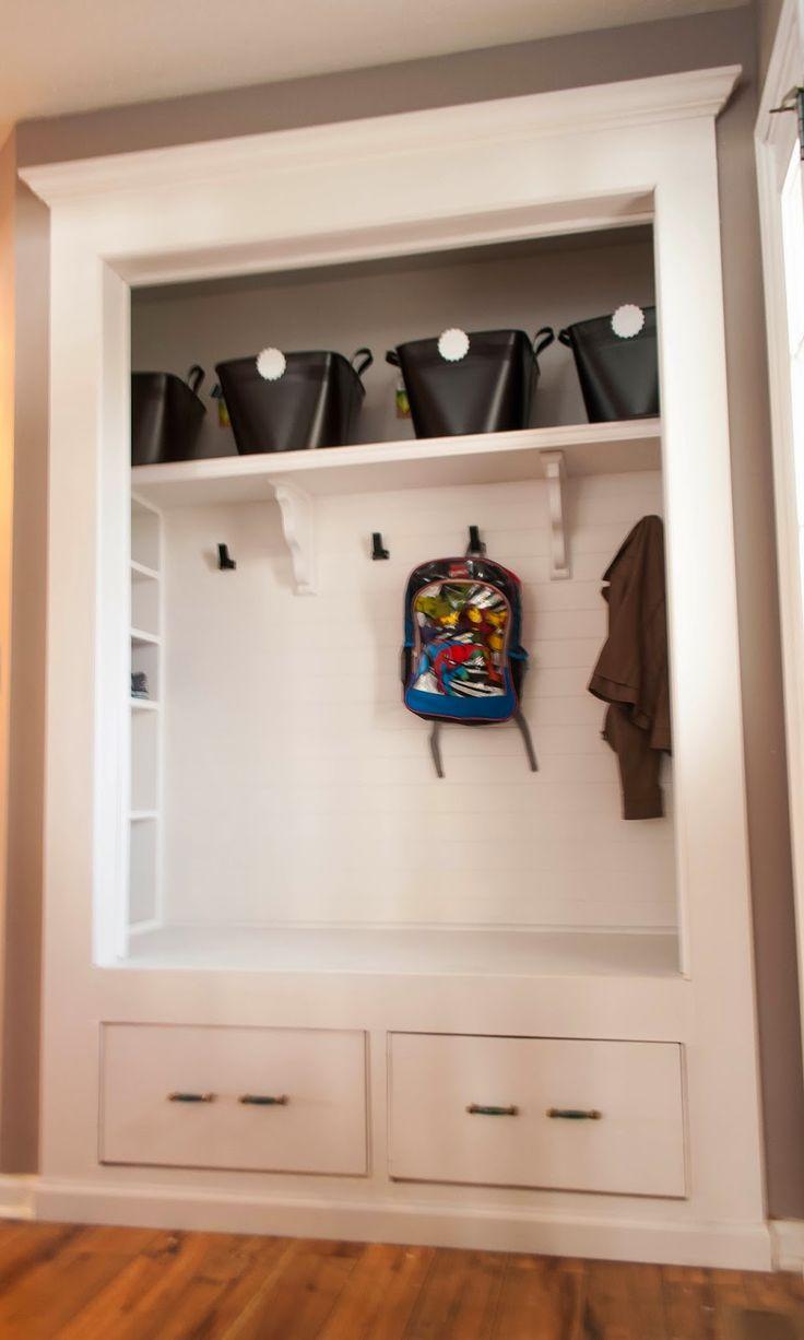 Foyer Closet Shelving : Best ideas about closet bench on pinterest entryway