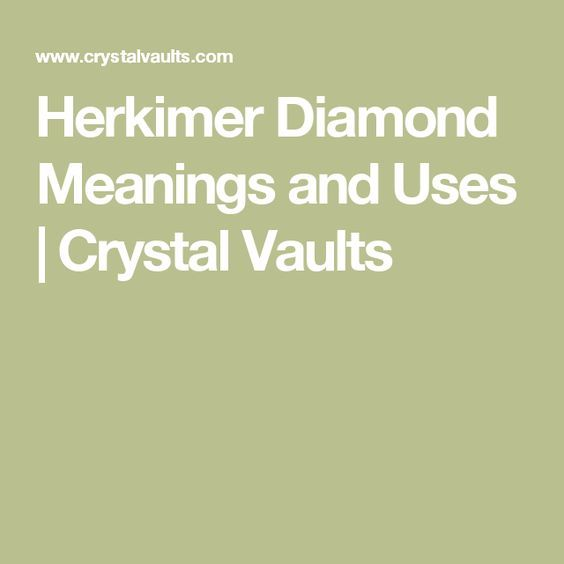 Herkimer Diamond Meanings and Uses | Crystal Vaults