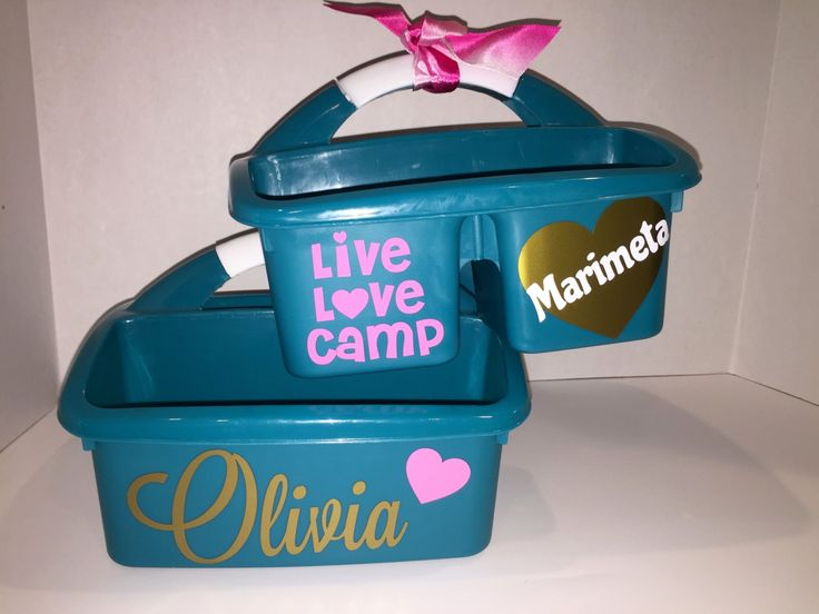 Live, Love, CAMP / PERSONALIZED Shower Caddy Perfect for overnight Camp. Decorated on Both sides. Personalize with Camp name or Campers name by MonogramCollection on Etsy