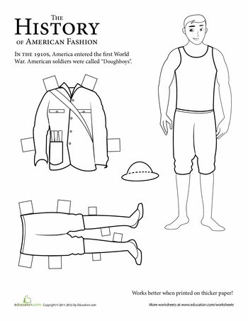 Paper Doll Soldier: WWI