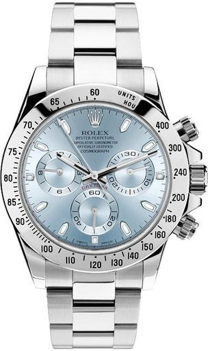 4b46d8879 Rolex Daytona 116520 Stainless Steel Custom Ice Blue Dial Chronograph Watch