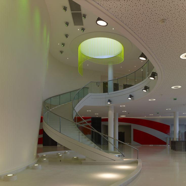 Sanofi Aventis building, Massy, France. Architectural project: SCGMA. Lighting products ...